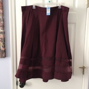 Torrid Maroon Skirt Plus Size
